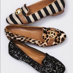 Victoria's Secret VS Leather Leopard Loafer Flats